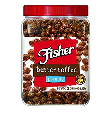 Fisher Butter Toffee Peanuts - 42 Oz. Cannister