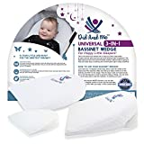3-in-1 Universal Bassinet Wedge – Elevated Sleeping Pillow Helps Newborn Babies with Acid Reflux, Congestion, Colic – Adjustable Cushion Supports Healthy Sleep and Eating + Carrying Case by Did and Me Image