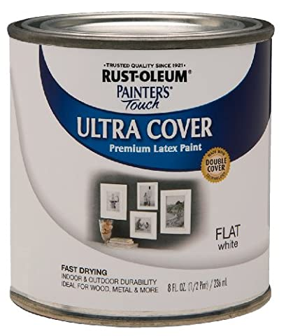 Rust-Oleum 1990730 Painters Touch Latex, 1/2-Pint, Flat White (Paint & Wall Covering Supplies)