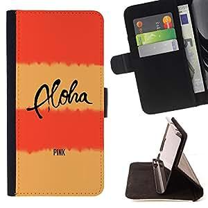 - Queen Pattern FOR Samsung Galaxy S5 Mini, SM-G800 /La identificaci????n del cr????dito ranuras para tarjetas tir????n de la caja Cartera de cuero cubie - peach pink aloha text l