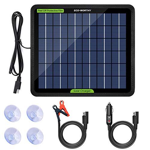 Eco Worthy 12 Volt 5 W Das Solarpanel Trickle Backup Ladegerät Mit Strom Versorgen Um Den Automotor Anzutreiben Gewerbe Industrie Wissenschaft