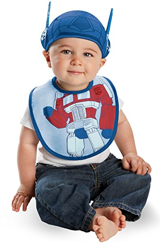 Transformers 3 Costumes (Disguise Costumes Drool Over Me Transformers Optimus Prime Infant Bib and Hat  Accessory, Blue/Red, 0-6 Months)