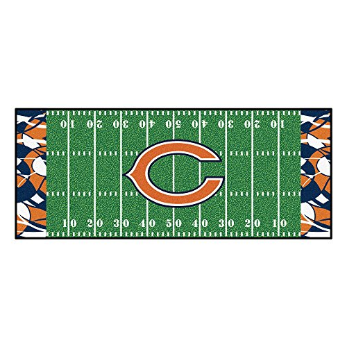 Field Chicago Bears Football Rug - Fanmats NFL Chicago Bears NFL-Chicago Bearsfootball Field Runner, Team Color, One Size
