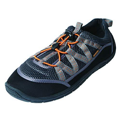 11 Man Water Station - Northside Unisex Brille II Athletic Water Shoe,Grey/Orange,11 M US