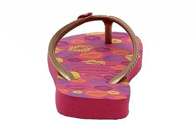 Amazon.com | Havaianas Girls Fun Fashion Pink/Rose Gold Flip Flops Sandals Shoes Sz: 11 | Sandals