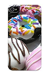 Charlesvenegas Durable Sweets Desert Doughnuts Icing Sugar Back Case/ Cover For Iphone 4/4s For Christmas