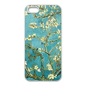 Cool Painting Vintage Flower Watercolor Customized Cover Case for Iphone 5,5S,custom phone case case586600