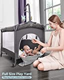 ADOVEL Baby Bassinet Bedside Crib, Pack and Play