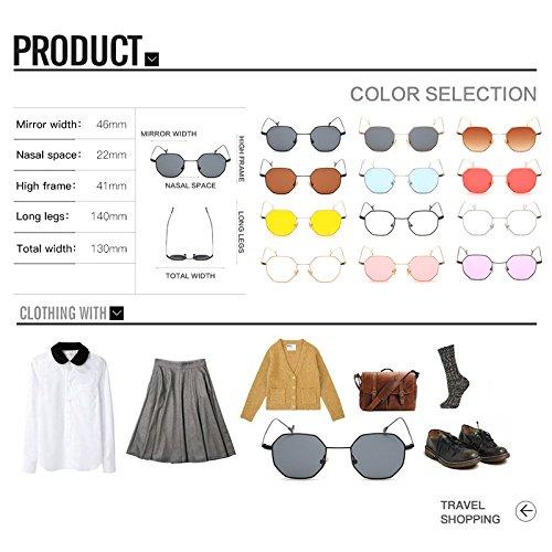 93ee5f0718 WELUK 2017 New Octagon Sunglasses Ladies Summer Polygon Square Sun Glasses  Metal Frame Women Men Plain Glasses - Buy Online in Oman.