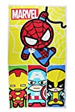 Avengers Yellow Spiderman and Marvel Heroes Beach and Bath Towel