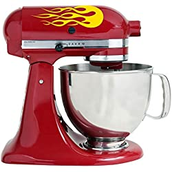 Yellow Flames Bakery Kitchenaid Mixer Mixing Machine Decal Art Wrap