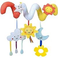 NUOLUX Kid Baby Crib Cot Pram Hanging Rattles Spiral Stroller Car Seat Toy(sun,moon)