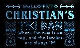 pm235-b Christian's Tiki Bar Mask Beer Neon Light Sign