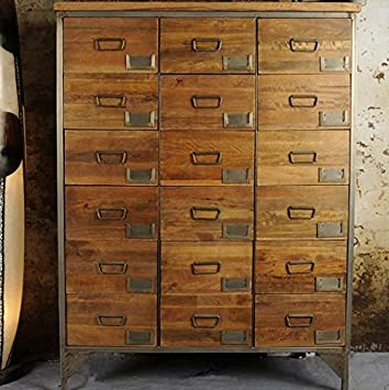 Charmant Office Apothecary Cabinet Large Chest Of 18 Drawers Tall Vintage Industrial  Style Living Room Bedroom Hallway
