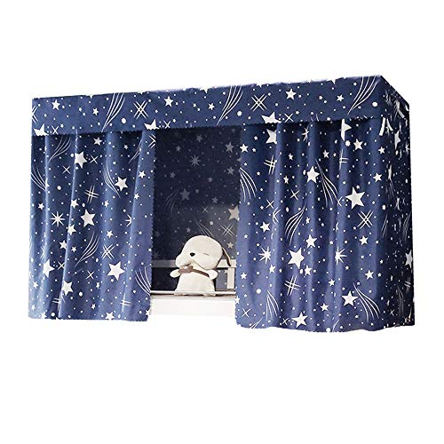 ed Canopy Single Sleeper Bunk Bed Curtain Student Dormitory Blackout Cloth Mosquito Nets Bedding Tent ()