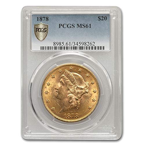 1878 $20 Liberty Gold Double Eagle MS-61 PCGS G$20 MS-61 PCGS