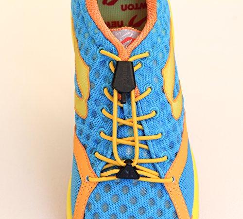Yankz Sure Lace Round Elastic Shoe Laces Gold With Black km9pYlUcx6