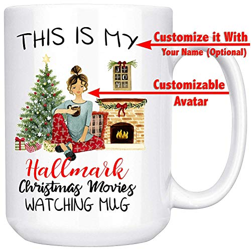 This Is My Hallmark Christmas Movies Watching Mug - Personalized Christmas Gift, Funny Xmas Gift For Best Friend, Sister, Mom, Girlfriend, Santa Claus Lovers - Coffee Mug Tea Cup 11 oz. / 15 oz.