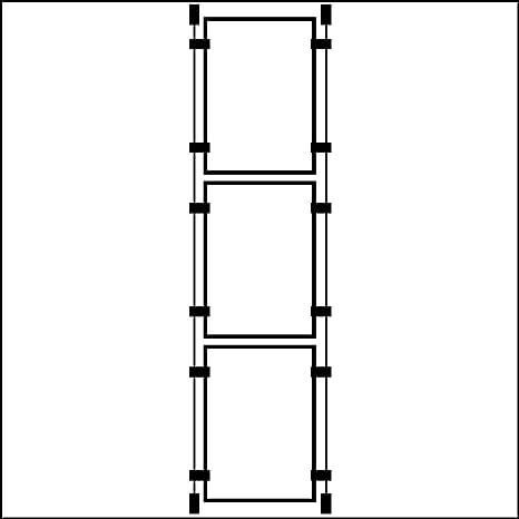 3 portarretratos A2 con cable para colgar