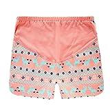 GIFTPOCKET Women's Spring Summer Woven Cotton Maternity Shorts Orange, (US) M-(CN) L-(EU)