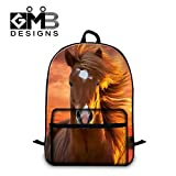 Generic Horse School Backpack for Teen Boys Mens Fashion Laptop Computer BackPack