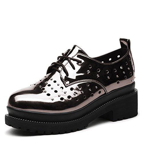 Alto zapatos de plataforma de primavera a verano/La versión coreana de transpirable zapatos casuales/zapatosflat-bottom de Inglaterra B