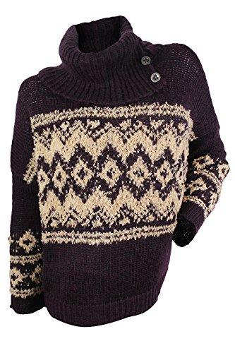 Free People Womens Fairisle Ragnar Wool-Blend Sweater, M, (Boucle Wool Turtleneck)