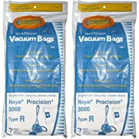 14 Royal Type R Allergy Vacuum BAG + Filter, Procision Ry, Canister Vacuum Cleaners, 3-RY3100-001, RY3100, 3RY3100001, M082475, RY3050
