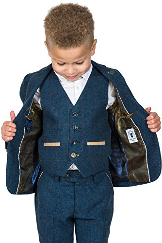 hoard as a rare commodity super cheap most popular Marc Darcy Boy's Dion 3 Piece Tweed Suit in Blue: Amazon.co ...