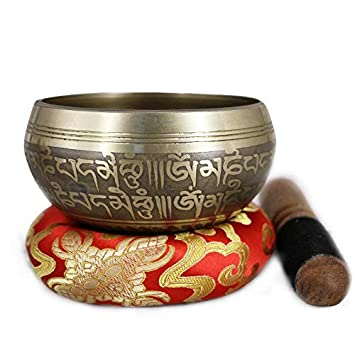 Cuenco tibetano WTUG® para meditación mental, yoga, chakra ...