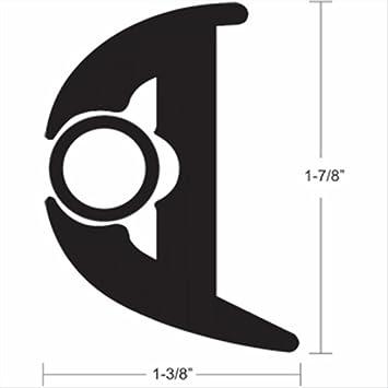Amazon Com Taco Flex Vinyl 1 7 8 H X 1 3 8 W Rub Rail Kit With 50 Black Insert Automotive