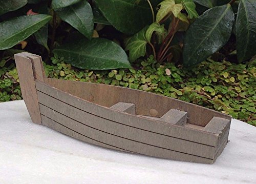 Miniature Dollhouse Fairy Garden Sea Beach Lake Wood Wooden Fishing Boat by Miniature