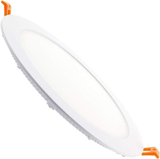LEDKIA LIGHTING Placa LED 20W Circular SuperSlim Corte Ø 220 mm Blanco Frío 6000K - 6500K