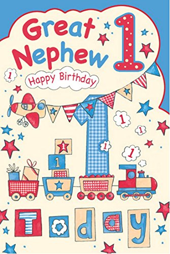 Great Nephew 1st 1 Today Happy Birthday Card With A Lovely Verse