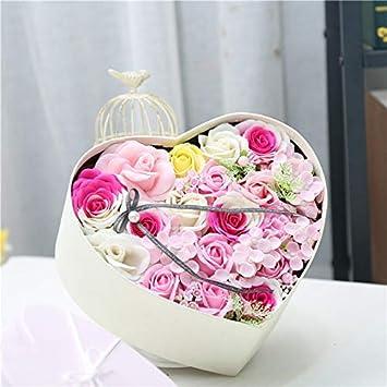 Amazon.com: ShineBear - Ramo de flores con caja de regalo ...