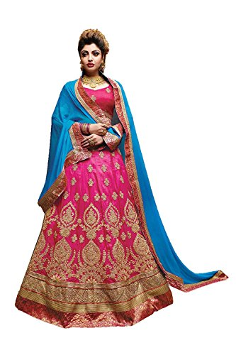 IWS Indian Women Designer Wedding Pink Lehenga Choli Fabz-2091