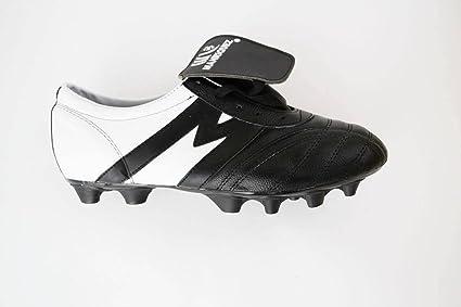 7af1d8d8e Manríquez Tacos Fútbol Soccer Mid SX Eclipse Negro Blanco 100% Piel (Negro  con Blanco
