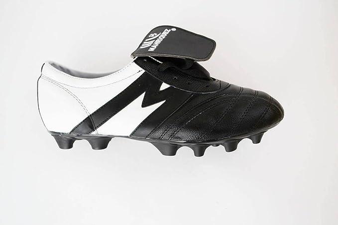 798da49dd07ee Manríquez Tacos Fútbol Soccer Mid SX Eclipse Negro Blanco 100% Piel   Amazon.com.mx  Deportes y Aire Libre
