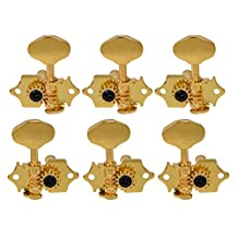 Kmise Gold Guitar Tuning Peg Tuners Machine Head For Grover sta-tite Replacement Set of 1