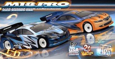 XRAY M18 Pro LiPo 4WD Shaft Drive 1/18 Micro Touring Car Kit ()