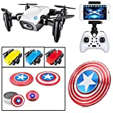 Premsons RC Drone Mini Pocket Drone Quadcopter Live Video Headless Mode for Kids and Beginners with Surprise Gift (with Camera, S9w) - Colours May Vary