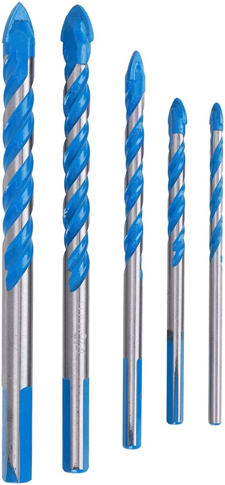 Plastic Ceramic Tile Wood for Glass Blue DIY Center Drill High Speed Steel Wear Resistance Hole Drill Bit