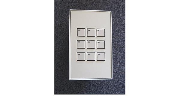 Lithonia Synergy 9 Button Digital Wall Control Station White - - Amazon.com