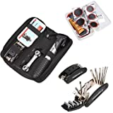 Bicycle Tire Repair Multi-function Tool Kit with Mini Portable Pump – Set of 16, Outdoor Stuffs
