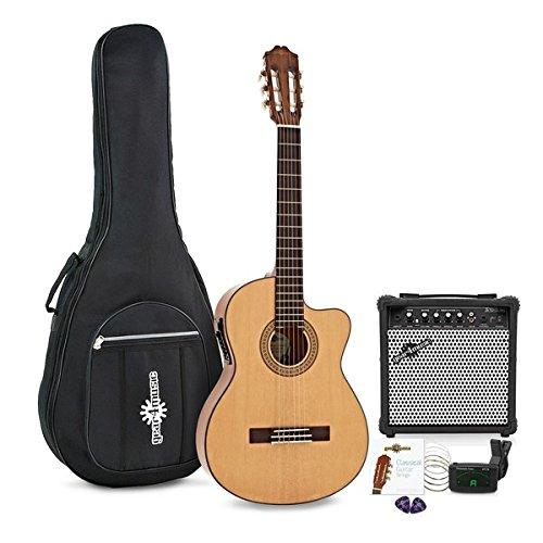 Deluxe Single Cutaway Elektro-Konzertgitarre mit 15-Watt-Verstärker Paket Gear4music