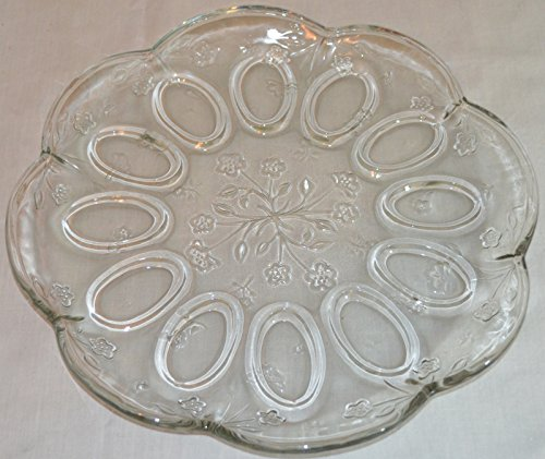Anchor Hocking Savannah Egg Plate - Glass Egg Plate Deviled