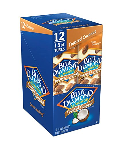 Blue Diamond Almond Growers (Blue Diamond Almonds, Toasted Coconut, 1.5 Ounce (Pack of 12))