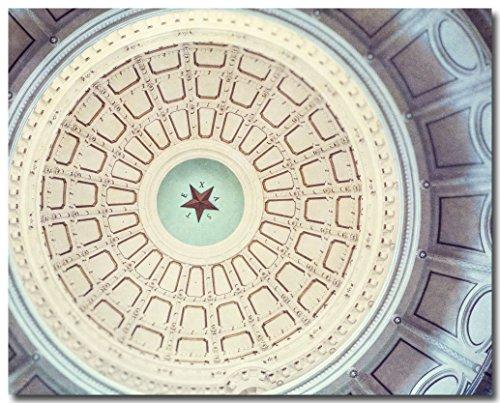 Austin Texas Capitol Dome Star Photograph