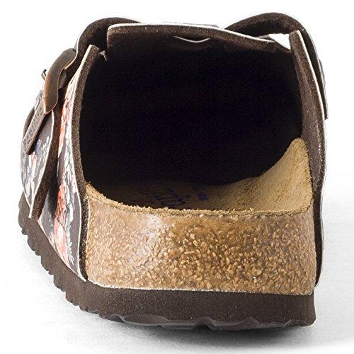 Birkenstock Boston Bf - zuecos de sintético mujer marrón - Brown (Rambling Rose Brown Soft)