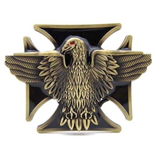 Belt Buckle Eagle Cross Vintage Horseman Prayer Celtic Iron Cross Skull Cowboy Lot Leather